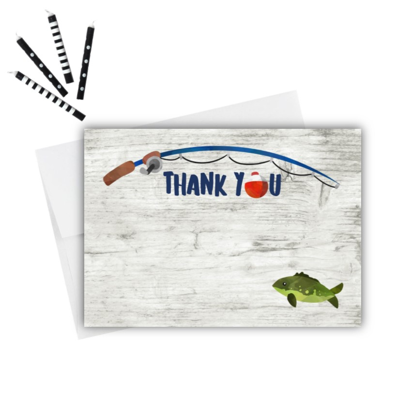 Fishing Thank You Cards Rose Paper Press
