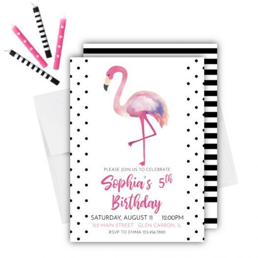 flamingo birthday archives rose paper