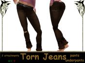 [RPC] Women ~ Brown Torn Jeans