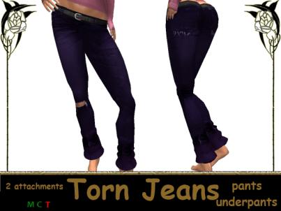 [RPC] Women ~ Purple Torn Jeans