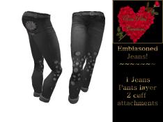 [RPC] Women ~ Emblasoned Jeans ~ Black