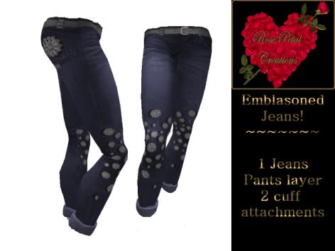 [RPC] Women ~ Emblasoned Jeans ~ Blue