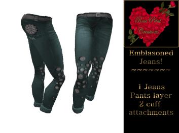 [RPC] Women ~ Emblasoned Jeans ~ Green