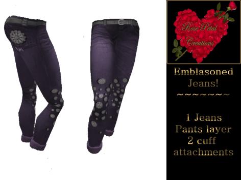 [RPC] Women ~ Emblasoned Jeans ~ Purple