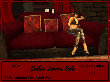 RPC Gothic Lovers Sofa