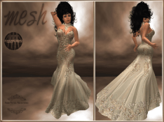 [RPC] MESH ~ Gold Evening Gown