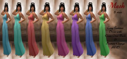[RPC] MESH ~ Plain Summer Dress & HUD