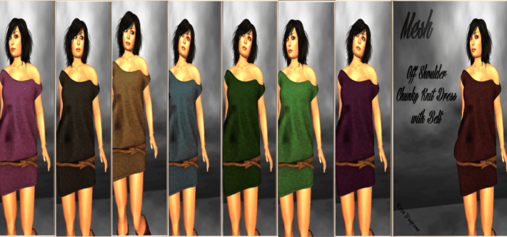 [RPC] MESH ~ Chunky Knit Dress with HUD