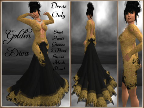 RPC Golden Diva ~ Black