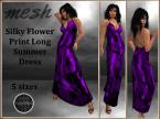 [RPC] Mesh ~ Flower Print Dress ~ Purple