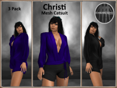 [RPC] MESH ~ Christi Catsuit ~ Blue&Black Pack
