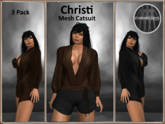 [RPC] MESH ~ Christi Catsuit ~ Chocolate&Black Pack
