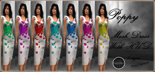 [RPC] MESH ~ Poppy Dress with HUD
