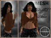 [RPC] MESH ~ Ruffled Blouse ~ Brown