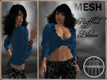[RPC] MESH ~ Ruffled Blouse ~ Pewter