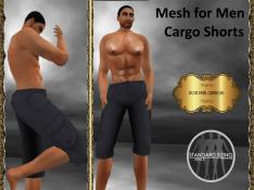[RPC] Mesh for Men ~ Cargo Shorts ~ Blue