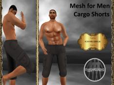 [RPC] Mesh for Men ~ Cargo Shorts ~ Brown