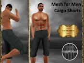 [RPC] Mesh for Men ~ Cargo Shorts ~ Green