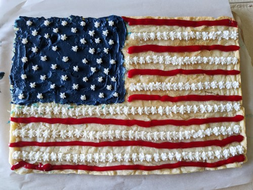 united states flag cookie