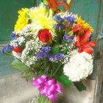 Flower filled vase