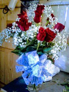 Dozen Red Roses in Vase for Valentine's Day 2019