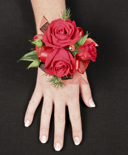Red Roses Prom Corsage