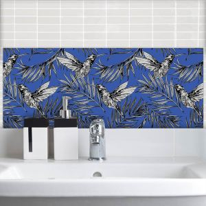 Image of Deep Blue Japonisme Feature wall tiles from forthefloorandmore.com
