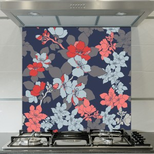 Image of floral splash back design exclusive to forthefloorandmore.com