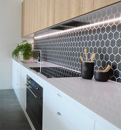 Image of Kitchen decoration in a splashback