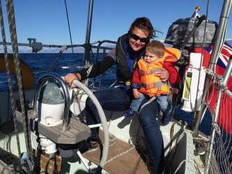 Two up on the helm