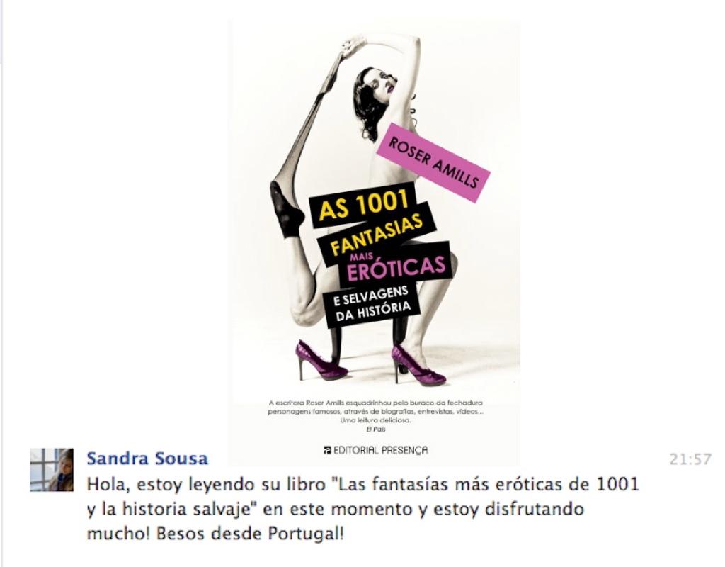 mensaje lectora 1001 fantasias de roser amills desde portugal 1024