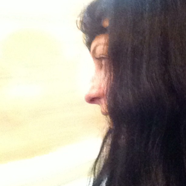 roser amills en tren de camino a madrid feria del libro