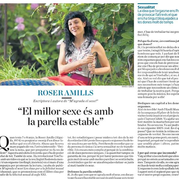 Avui a la contraportada de Ara, entrevista a Roser Amills