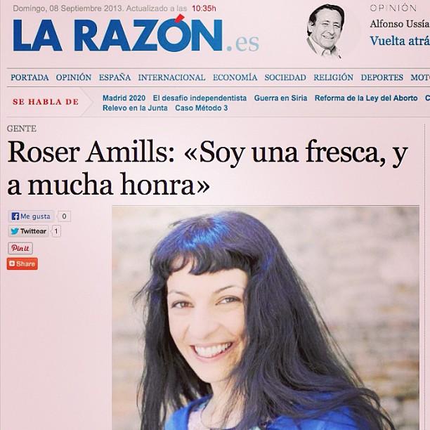 entrevista en la razon a roser amills