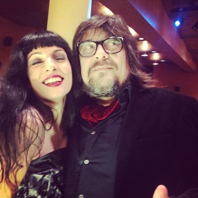 Con Juan Cruz amigo de José Corbacho :))