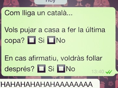 Ens agraden mes aquests mini-referèndums ;)) Com lliga un català?