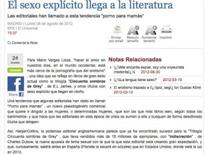 Lo que digo de #megustaelsexo en el diario Vanguardia de México