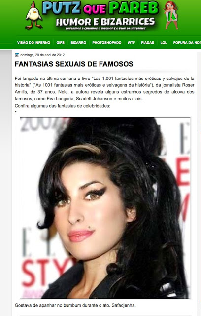 fantasias sexuais de famosos por roser amills