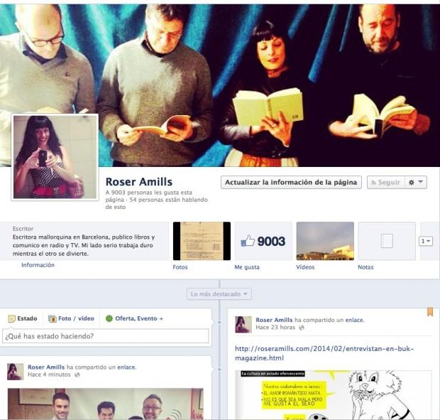 pagina de fans de roser amills en facebook