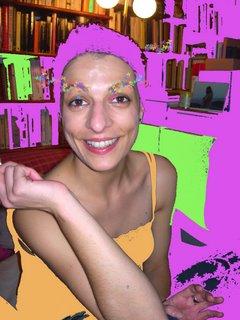 roser amills foto divertida pintada de rosa