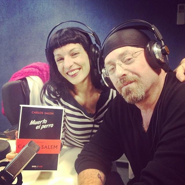 Roser Amills a Catalunya Ràdio   Con Carlos Salem y su #muertoelperro, está de gira!!
