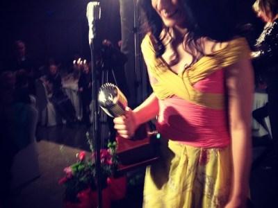 Micrófono #premiosapei2014 recogido!!! Gracias APEI-PRTVI