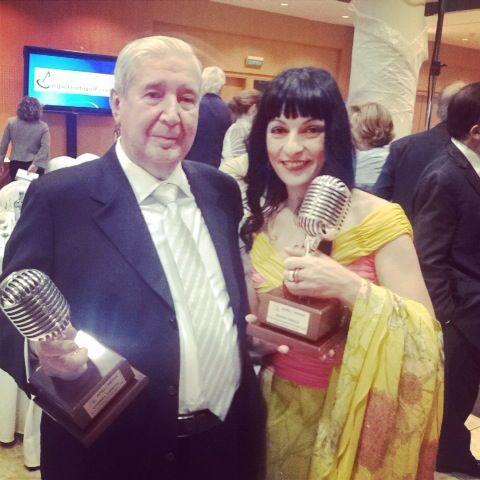 gabriel sampol y roser amills microfonos de plata informadores 2014