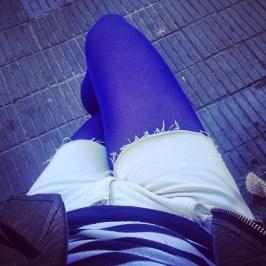 piernas medias azules roser amills