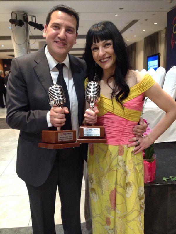 quim barnola y roser amills microfonos de plata informadores premios apei 2014