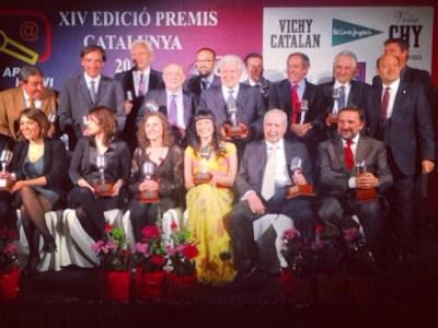 Todos los premiados de los #premiosapei2014 en el estrado. Un honor!!!