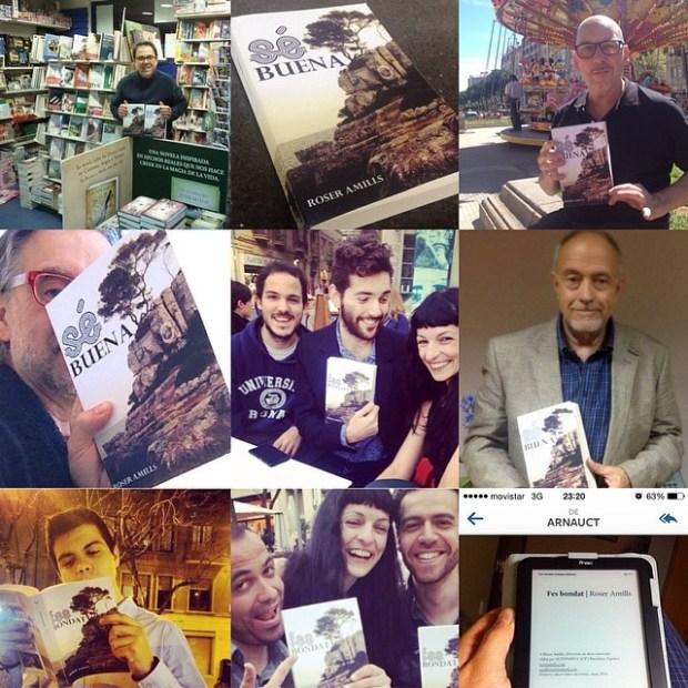 Lectores con la novela Sé Buena de Roser Amills