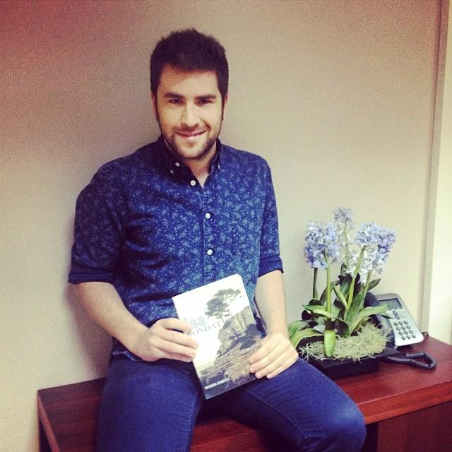 Con Víctor Fernández Clares leyendo #sébuena las hadas se van a volver locas!!!