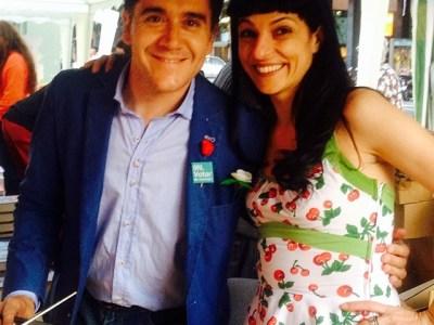 Amb Martí Gironell, un dels triomfadors d'aquest #santjordiamil ;))