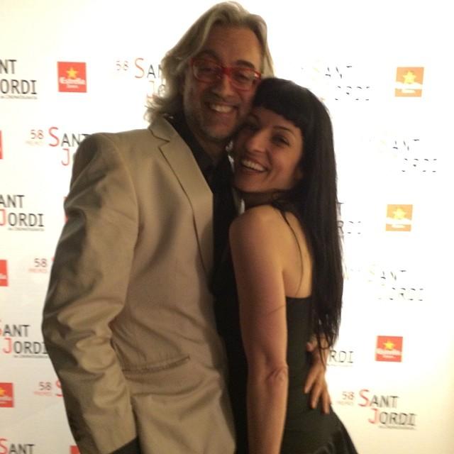 Amor en el Photocall de los 58º Premis Sant Jordi del Cinema a l'antiga fabrica Estrella Damm